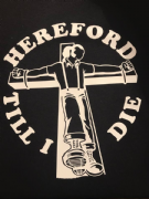HEREFORD TILL I DIE T-SHIRT (Black)